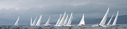 International Dragon Class Edinburgh Cup 2015.<br /> <br /> The first days racing in a strong southerly.<br /> <br /> Wide open Startline<br /> <br /> <br /> Credit Marc Turner