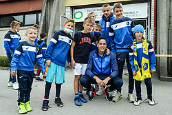 Milan Tucic of Bravo with young fans after the football match between NK Domzale and NK Aluminij in 36th Round of Prva liga Telekom Slovenije 2020/21, on May 22, 2021 in Sportni park Domzale, Slovenia. Photo by Vid Ponikvar / Sportida