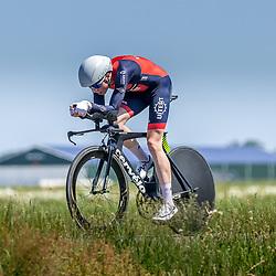 EMMEN (NED) June 16: <br />CYCLING <br />Dutch Nationals Time Trail men U23 <br />Tjalle de Bruin