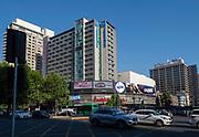 At the intersection of Libertador Bernardo O'Higgins and Santa Rosa, Santiago, Chile.
