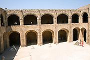 Courtyard Archaeological museum, Rhodes, Greece