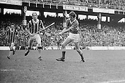 Tipperary makes a swing for the goal during the All Ireland Minor Hurling Final, Tipperary v Kilkenny in Croke Park on the 5th September 1976.