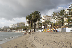 10.01.2012, Marbella, Spanien, ESP, Marbella im Focus, im Bild Strand von Marbella, Andalusien, Spanien. EXPA Pictures © 2012, PhotoCredit: EXPA/ Eibner/ Andre Latendorf..***** ATTENTION - OUT OF GER *****