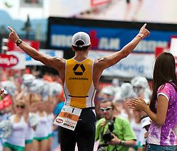 03.07.2011, Strandbad, Klagenfurt, AUT, Austria Ironman 2011, im Bild der Gewinner des Ironman Austria 2011 Marino Vanhohenacker, EXPA Pictures © 2011, PhotoCredit: EXPA/ M. Kuhnke