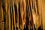"""Elephant ears"" at the Soreq Stalactite Cave Nature Reserve (also called Avshalom Cave) 82-meter-long, 60-meter-wide cave is on the western slopes of the Judean Hills outside the city of Beit Shemesh. Sorek Cave is famous for its beautiful formations. Stalactites and stalagmites, but also many other forms of speleothems, especially calcite crystals, helictites and cave coral,"