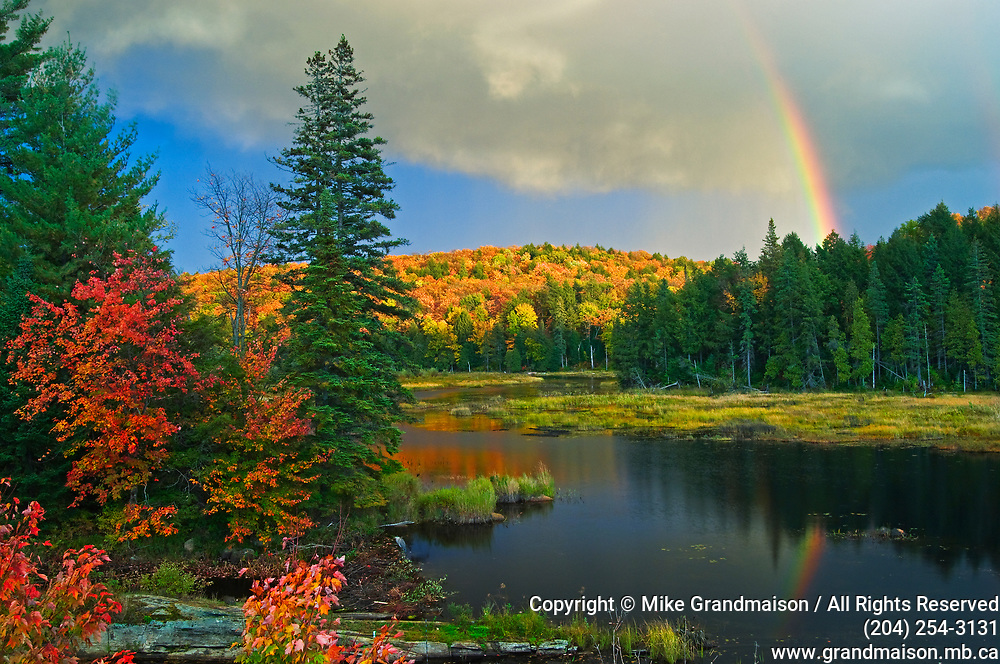 Rainbow and autumn colors<br />Oxtongue<br />Ontario<br />Canada