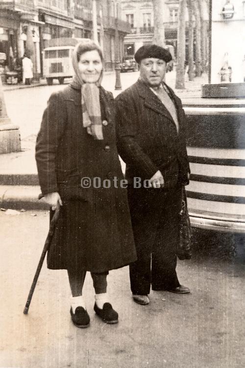 senior couple France ca 1940s