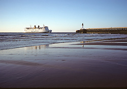 Ferry From England Landing In Calais