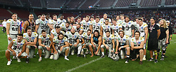 29.07.2017, Woertersee Stadion, Klagenfurt, AUT, AFL, Austrian Bowl XXXIII, Dacia Vikings Vienna vs Swarco Raiders Tirol, im Bild Gruppenfoto Raiders // during the Austrian Football League Austrian Bowl XXXIII game between Dacia Vikings Vienna vs Swarco Raiders Tirol at the Woertersee Stadion, Klagenfurt, Austria on 2017/07/29. EXPA Pictures © 2017, PhotoCredit: EXPA/ Thomas Haumer