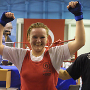 2. WOMEN'S WORLD BOXING CHAMPIONSHIPS.<br /> Denmark's Bettina Karlsen (C) semi final  winner. Dilek Sabanci Sport Hall Antalya/Turkey<br /> Photo by Aykut AKICI/TurkSporFoto