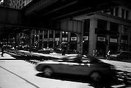 12/16/06 Chicago, IL Downtown Chicago under the L train..(Chris Machian/ Prairie Pixel Group)..