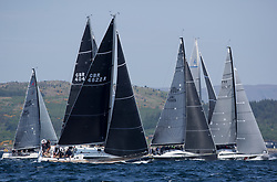Sailing - SCOTLAND  - 26th May 2018<br /> <br /> DAY 2 Racing the Scottish Series 2018, organised by the  Clyde Cruising Club, with racing on Loch Fyne from 25th-28th May 2018<br /> <br /> Class One, Start, with GBR4822R, El Gran Senor, Jonathan Anderson, CCC, J122E<br /> <br /> Credit : Marc Turner<br /> <br /> Event is supported by Helly Hansen, Luddon, Silvers Marine, Tunnocks, Hempel and Argyll & Bute Council along with Bowmore, The Botanist and The Botanist