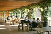 Cafe, University of Aarhus set in the University Park designed by C.F. Moller Architect & Søren Jensen Engineer