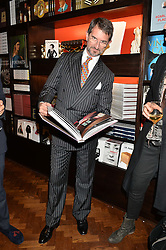 COUNT MANFREDI DELLA GHERARDESCA at a party to celebrate the launch of the Maison Assouline Flagship Store at 196a Piccadilly, London on 28th October 2014.  During the evening Valentino signed copies of his new book - At The Emperor's Table.