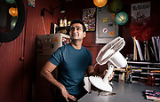 """LOS ANGELES, CA - MARCH 31, 2014 -  Comedian Kumail Nanjiani poses on March 31, 2014, in Los Angeles, California, at Meltdown Comics & Collectibles, where he co-hosts a standup comedy show called """"Meltdown"""" that will air on Comedy Central. Nanjiani is also one of the stars in the new HBO series """"Silicon Valley"""" and he released a comedy special last year called """"Beta Male"""". (Photo by Bret Hartman/For The Washington Post)"""