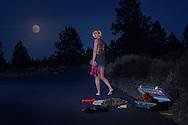 American Dreamscapes / American Girl<br /> <br /> Bend, Oregon, USA,2014