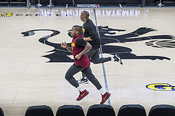 December 27, 2017 - Sacramento, CA, USA - The Cleveland Cavaliers' Isaiah Thomas works out with assistant coach Phil Handy, top, before the Sacramento Kings play host to the Cavs on Wednesday, Dec. 27, 2017, at Golden 1 Center in Sacramento, Calif. Thomas, who was orginally drafted by the Kings, is still on injured list. (Credit Image: © Hector Amezcua/TNS via ZUMA Wire)