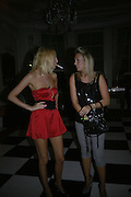 Lady Sophia Hesketh and Olivia Buckingham, Biba after-show party organised by Quinessentially.  Royal Duchess Palace, 16 Mansfield Street, London W1. 19 September 2006.  ONE TIME USE ONLY - DO NOT ARCHIVE  © Copyright Photograph by Dafydd Jones 66 Stockwell Park Rd. London SW9 0DA Tel 020 7733 0108 www.dafjones.com