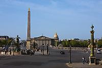 place de la concorde in the beautiful city of paris france