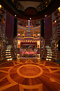 Royal Caribbean International's  Independence of the Seas, the world?s largest cruise ship. ..Interior and exterior features photos...Stairwell outside theatre *** Local Caption *** Stairwell outside theatre