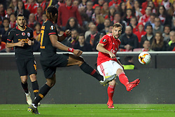 February 21, 2019 - Lisbon, Portugal - Haris Seferovic of SL Benfica in action during the Europa League 2018/2019 footballl match between SL Benfica vs Galatasaray AS. (Credit Image: © David Martins/SOPA Images via ZUMA Wire)