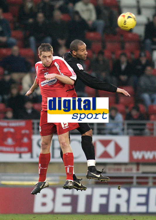 Justin MNiller and Jason Lee.<br /> Leyton Orient v Northampton Town, Coca Cola League 2, London. 14/01/06 Photo by Barry Bland