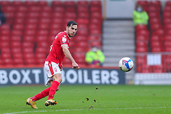 Yuri Ribeiro of Nottingham Forest angles a pass forwards - Mandatory by-line: Nick Browning/JMP - 29/11/2020 - FOOTBALL - The City Ground - Nottingham, England - Nottingham Forest v Swansea City - Sky Bet Championship