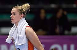 04-01-2016 TUR: European Olympic Qualification Tournament Nederland - Duitsland, Ankara <br /> De Nederlandse volleybalvrouwen hebben de eerste wedstrijd van het olympisch kwalificatietoernooi in Ankara niet kunnen winnen. Duitsland was met 3-2 te sterk (28-26, 22-25, 22-25, 25-20, 11-15) / Teleurstelling bij captain Maret Balkestein-Grothues #6