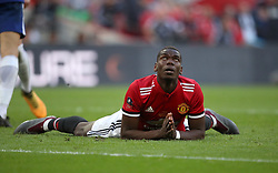 Manchester United's Paul Pogba rues a missed chance