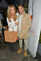 NICOLA HUGHES and ALEX MYTTON at a reception hosted by Tiffany Watson in aid of The Eve Appeal held at The Phene, 9 Phene Street, London on 8th September 2015.