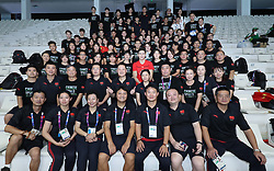 JAKARTA, Aug. 24, 2018  Members of Chinese swimming team pose for pictures after all swimming competitions of the 18th Asian Games end in Jakarta, Indonesia, Aug. 24, 2018. (Credit Image: © Fei Maohua/Xinhua via ZUMA Wire)