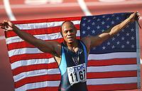 Friidrett: GREENE, Maurice   USA<br />         Leichtathletik  WM 2001    100m Lauf