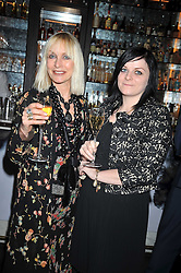 Left to right, VIRGINIA BATES and CHARLOTTE LONG at a party to celebrate the publication of Stephanie Theobold's book 'A Partial Indulgence' held at the Langham Hotel, Portland Place, London on 21st April 2009.
