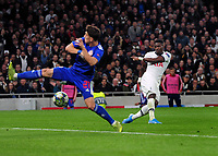 Football - 2019 / 2020 UEFA Champions League - Group B: Tottenham Hotspur vs. Olympiakos<br /> <br /> Moussa Sissoko of Spurs sctres goal no 3, at The Tottenham Hotspur Stadium.<br /> <br /> COLORSPORT/ANDREW COWIE