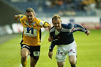 Fotball, Tippeliga, Viking Stadion, 08/08-2005, <br />Viking - Start (1-1),<br />Jon Midttun Lie og Frode Hansen,<br />Foto: Halvard Hofsmo, Digitalsport