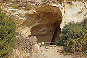 Entrance to a Bell cave at Beit Guvrin National Park. Beit Guvrin-Maresha National Park is a national park in central Israel, 13 kilometers from Kiryat Gat, encompassing the ruins of Maresha, one of the important towns of Judah during the time of the First Temple, and Beit Guvrin, an important town in the Roman era, when it was known as Eleutheropolis.