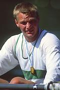 Lucerne, SWITZERLAND. [RDA] DDR M1X, Thomas LANGE.1988 Lucerne International Regatta, Lake Rotsee. June 1988 [Mandatory Credit - Peter Spurrier/Intersport Images] 1988 Lucerne International Regatta