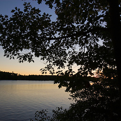 The Saco River in Hollis, Maine.The Saco River in Hollis, Maine. Sunset.