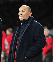 Rugby Union - 2020 Guinness Six Nations Championship - England vs. Wales<br /> <br /> England head coach, Eddie Jones comes down from the stand, showing concern, as Wales score two late tries , at Twickenham.<br /> <br /> COLORSPORT/ANDREW COWIE
