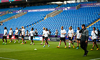 Olympique Lyonnais players during training<br /> <br /> Photographer Kevin Barnes/CameraSport<br /> <br /> UEFA Women's Champions League Final - Pre match training session - Lyon Women v Paris Saint-Germain Women - Wednesday 31st May 2017 - Cardiff City Stadium<br />  <br /> World Copyright © 2017 CameraSport. All rights reserved. 43 Linden Ave. Countesthorpe. Leicester. England. LE8 5PG - Tel: +44 (0) 116 277 4147 - admin@camerasport.com - www.camerasport.com