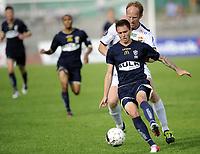 Fotball<br /> Norge<br /> 08.07.2012<br /> Foto: Morten Olsen, Digitalsport<br /> <br /> Tippeligaen<br /> Stabæk v Strømsgodset 1:2<br /> <br /> Peter Kovacs - SIF<br /> Sean Cunningham - Stabæk