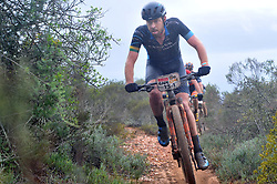 WORCESTER, SOUTH AFRICA - MARCH 21: Erik Kleinhans during stage three's 122km from Robertson to Worcester on March 21, 2018 in Cape Town, South Africa. Mountain bikers from across South Africa and internationally gather to compete in the 2018 ABSA Cape Epic, racing 8 days and 658km across the Western Cape with an accumulated 13 530m of climbing ascent, often referred to as the 'untamed race' the Cape Epic is said to be the toughest mountain bike event in the world. (Photo by Dino Lloyd)