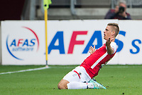 ALKMAAR , AZ - PEC Zwolle , 21-09-2014 , AFAS stadion , 1-0 , AZ speler Marcus Henriksen viert de 1-0 .