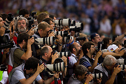 ROME, ITALY - Tuesday, May 26, 2009: Photographers during the UEFA Champions League Final between Manchester United and Barcelona  at the Stadio Olimpico. (Pic by Carlo Baroncini/Propaganda)