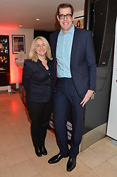 EMMA KENNEDY and RICHARD OSMAN at the Costa Book Awards 2013 held at Quaglino's, 16 Bury Street, London on 28th January 2014.