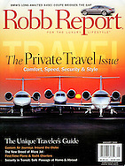 Magazine Cover - Robb Report group jets