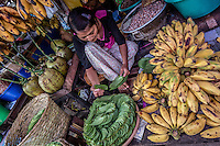 A huge variety of fruits, vegetables, produce and goods are available at the colourful local market in Pyin Oo Lwin.