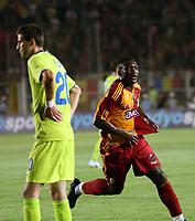 Fotball<br /> Kvalifisering UEFA Champions League<br /> 13.08.2008<br /> Galatasaray  - Steaua Bukarest 2:2 <br /> Foto: imago/Digitalsport<br /> NORWAY ONLY<br /> <br /> Shabani Nonda (Galatasaray, re.) - Torjubel