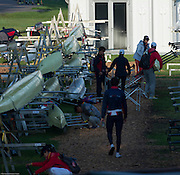 Amsterdam. NETHERLANDS. General View of the boat racks. 2014 FISA  World Rowing. Championships.  De Bosbaan Rowing Course . 08:25:31  Thursday  21/08/2014  [Mandatory Credit; Peter Spurrier/Intersport-images]
