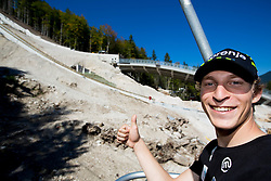 Jurij Tepes at media day of Slovenian Ski jumping team during construction of two new ski jumping hills HS 135 and HS 105, on September 18, 2012 in Planica, Slovenia. (Photo By Vid Ponikvar / Sportida)